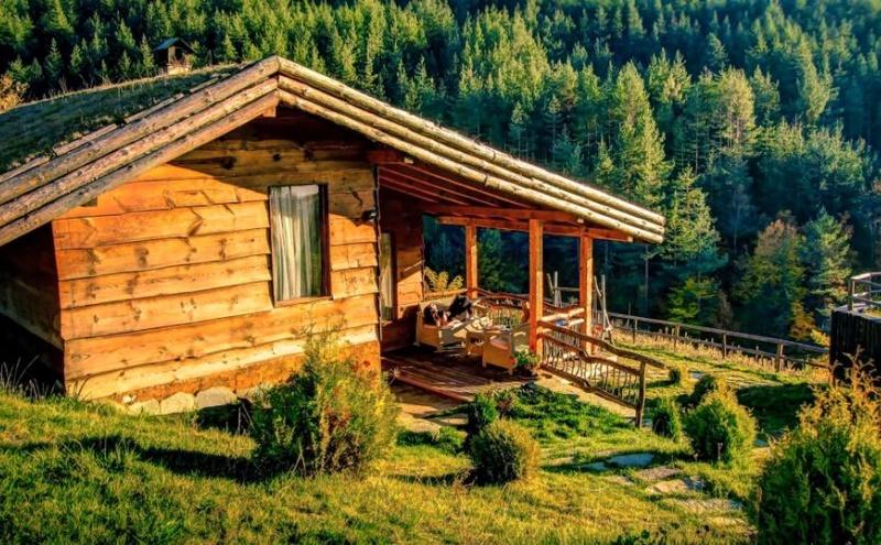 Дървена еко къща